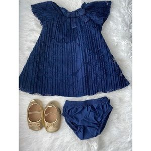 Navy blue Dress and shorts